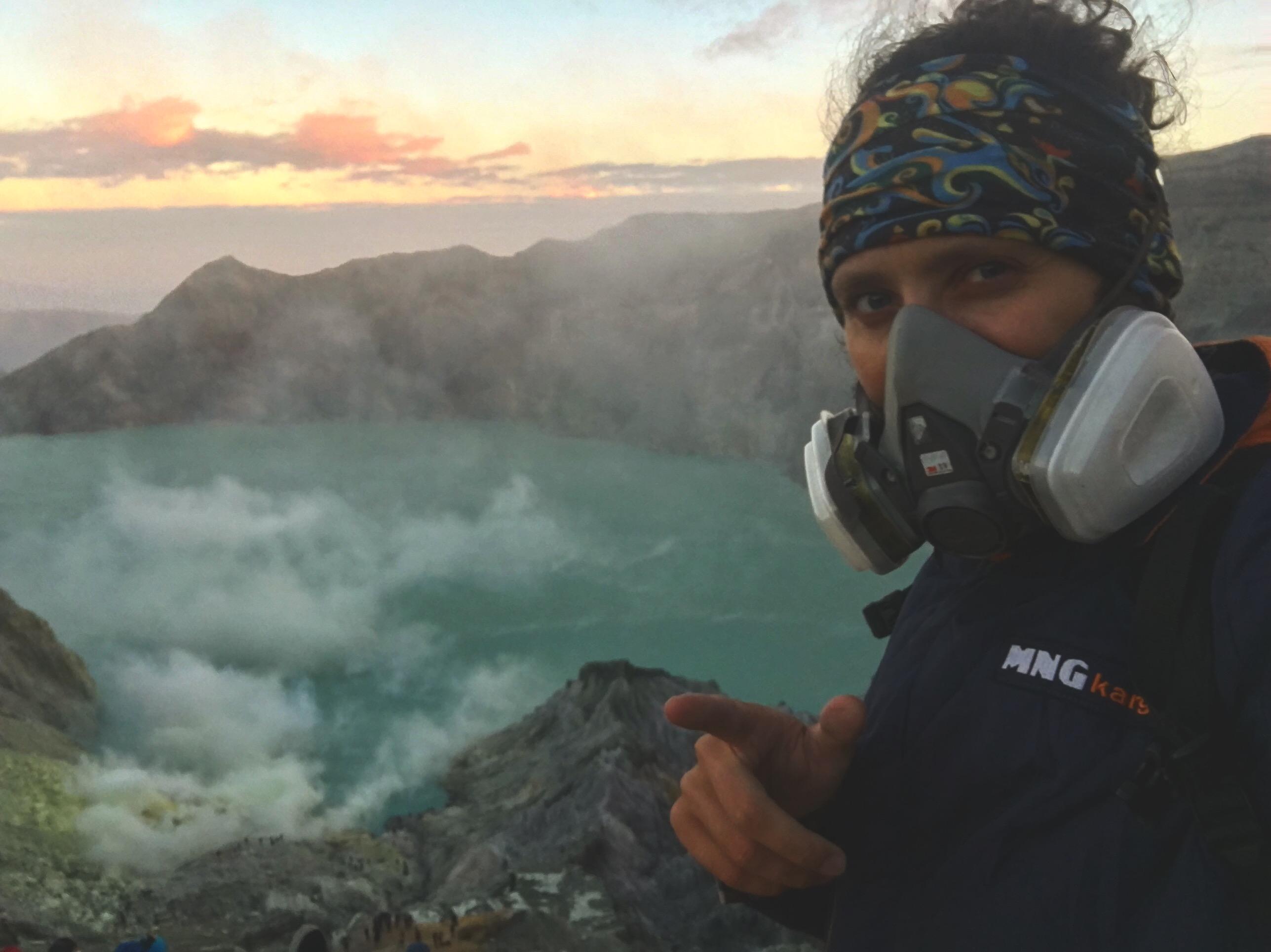 Indonesia, Java, Ijen, volcano view, Индонезия, Ява, Иджен, Вид Вулкана