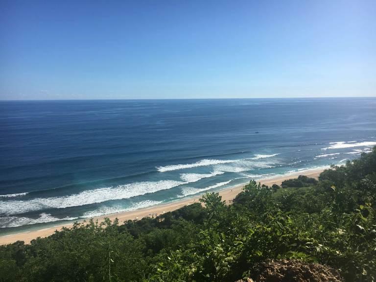Bali, Bukit, Cliff, beach, ocean, waves, Nyang nyang, viewpoint, Бали, Букит, утес, океан, пляж, волны, Ньянг Ньянг