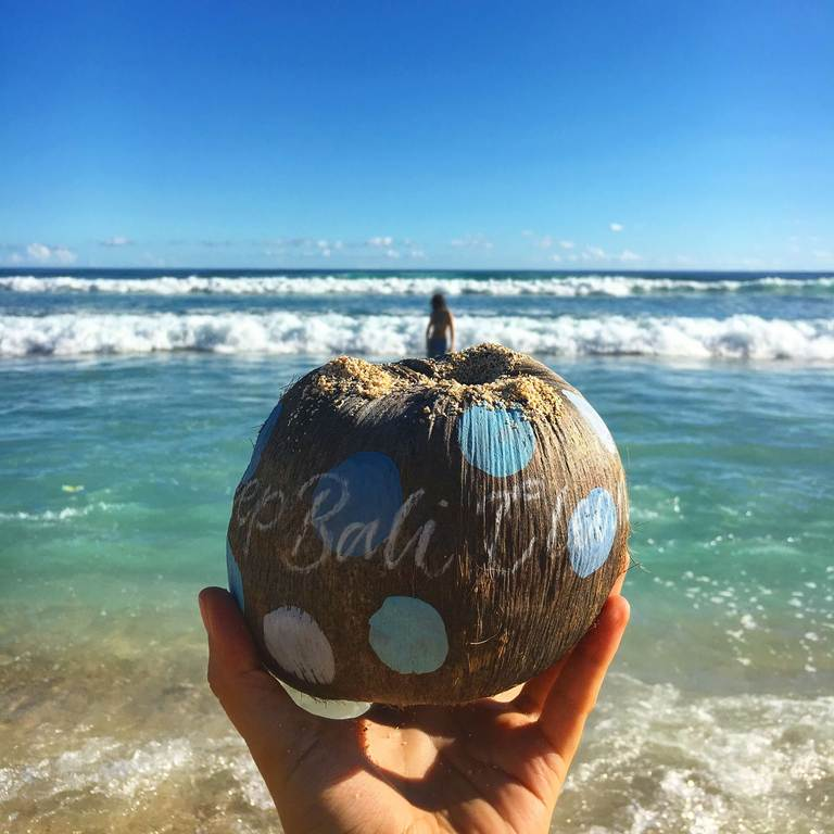 Bali, Bukit, Cliff, beach, ocean, waves, Nyang nyang, coconut, Бали, Букит, утес, океан, пляж, кокос, Ньянг Ньянг