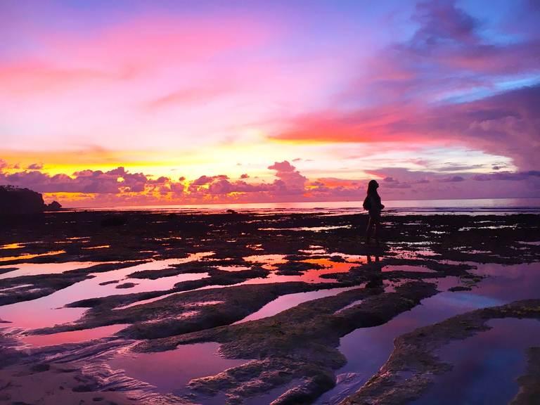 Indonesia, Bali, Bukit, Padang Padang, beach, ocean, sunset Индонезия, Бали, Букит, Паданг Паданг, пляж, океан, закат