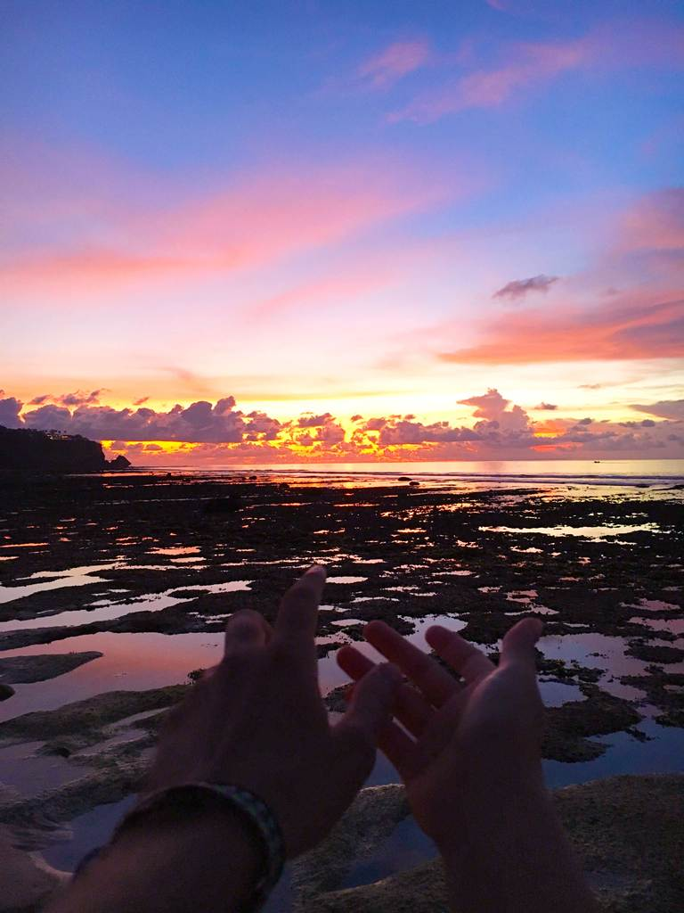 Indonesia, Bali, Bukit, Padang Padang, beach, ocean, sunset, Индонезия, Бали, Букит, Паданг Паданг, пляж, океан, закат