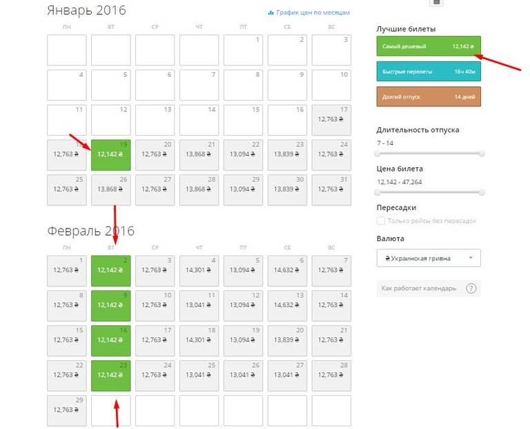 avia tickets, calendar, авиа билеты, календарь низких цен