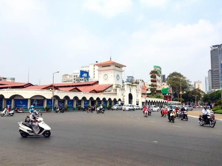 vietnam, hochiminh, saigon, street, traffic, city view, вьетнам, хошимин, сайгон, улица, трафик, городской вид