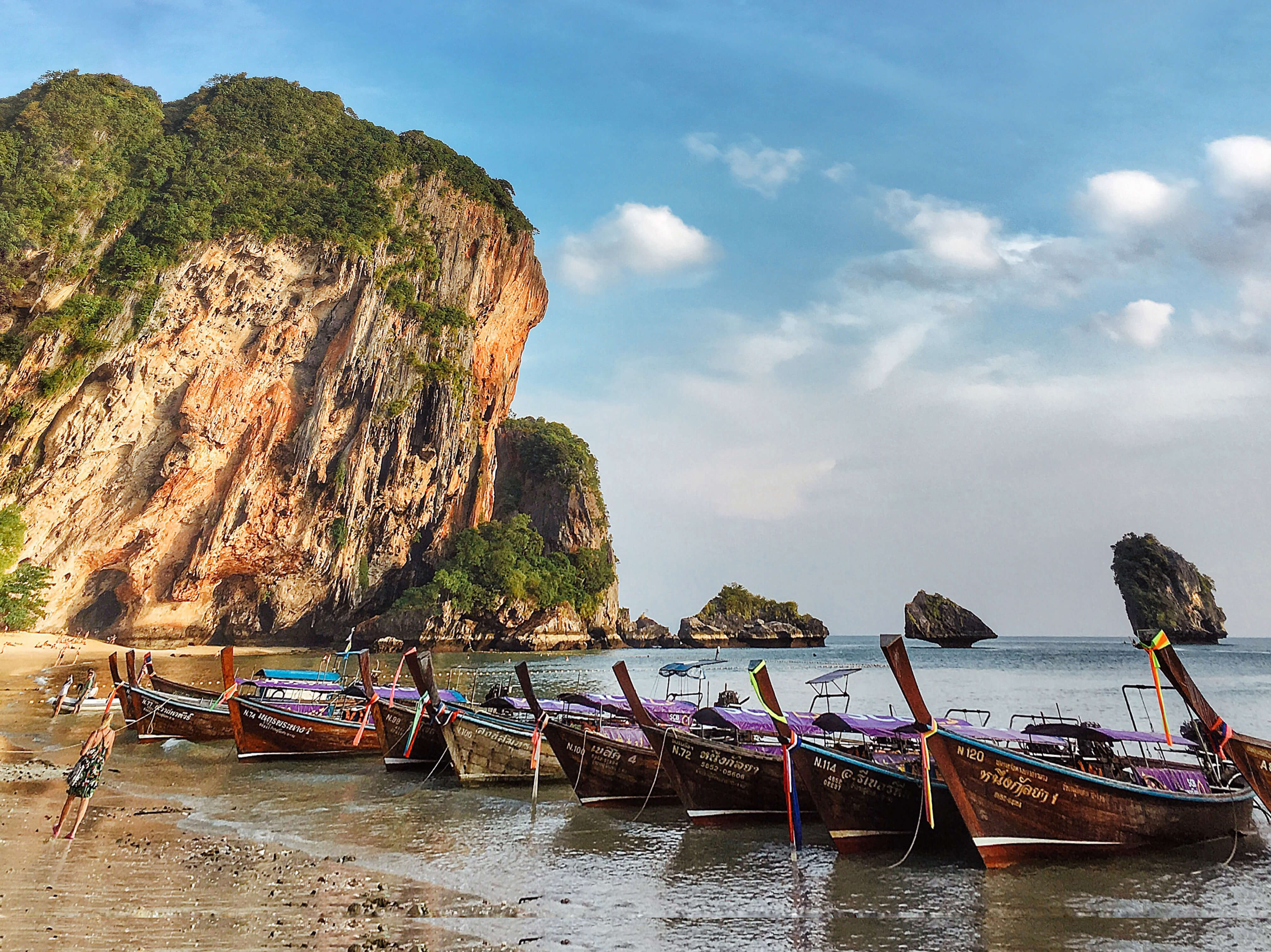 Krabi, road, mountains, nature, sea, boats, горы, природа, лодки, море