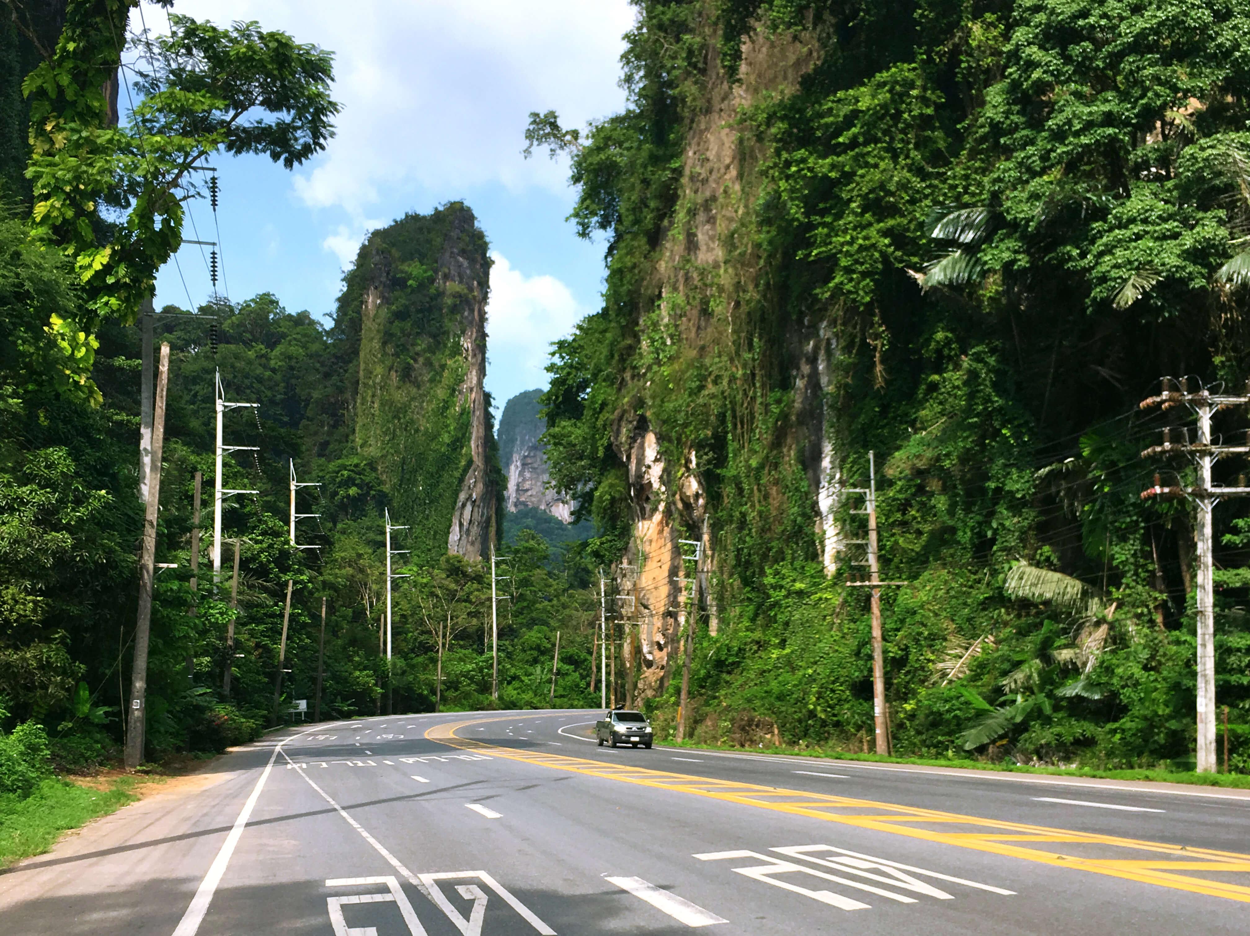 Krabi, road, mountains, krabi nature, Краби, дорога, горы, природа краби
